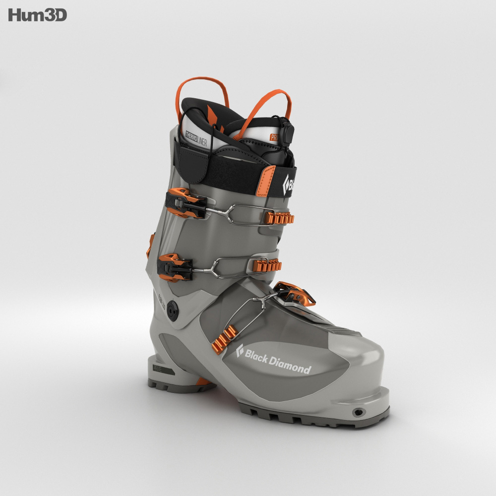 Black Diamond Prime Ski Boot 3d model