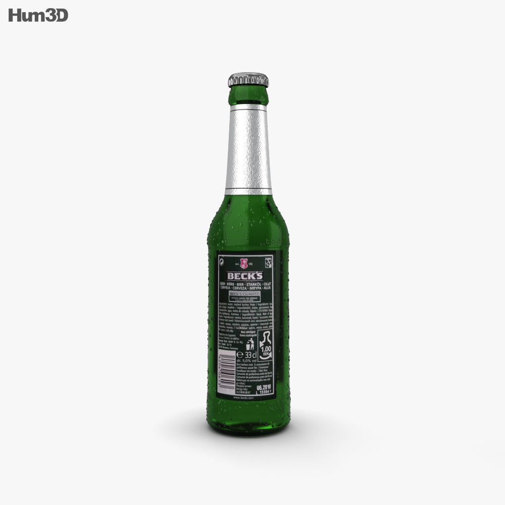 Becks Beer Bottle 3d model