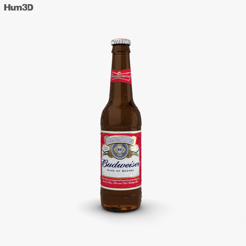 Budweiser Beer Bottle 3D model - Hum3D