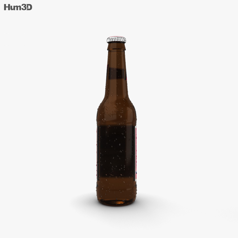 Budweiser Beer Bottle 3d model