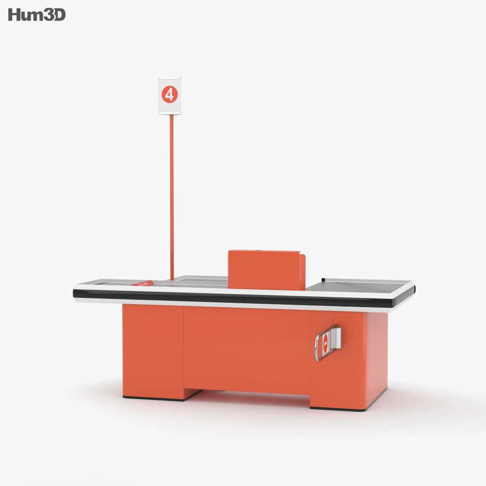 Check-out Counter 3d model