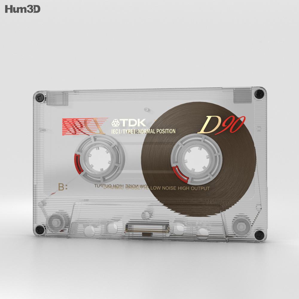 Transparent Cassette 3d model