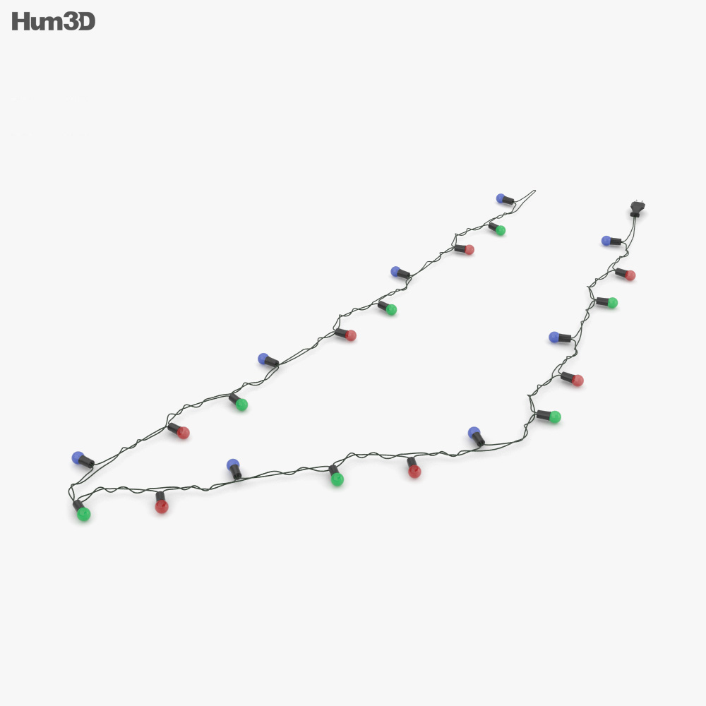 Christmas String Lights 3d model