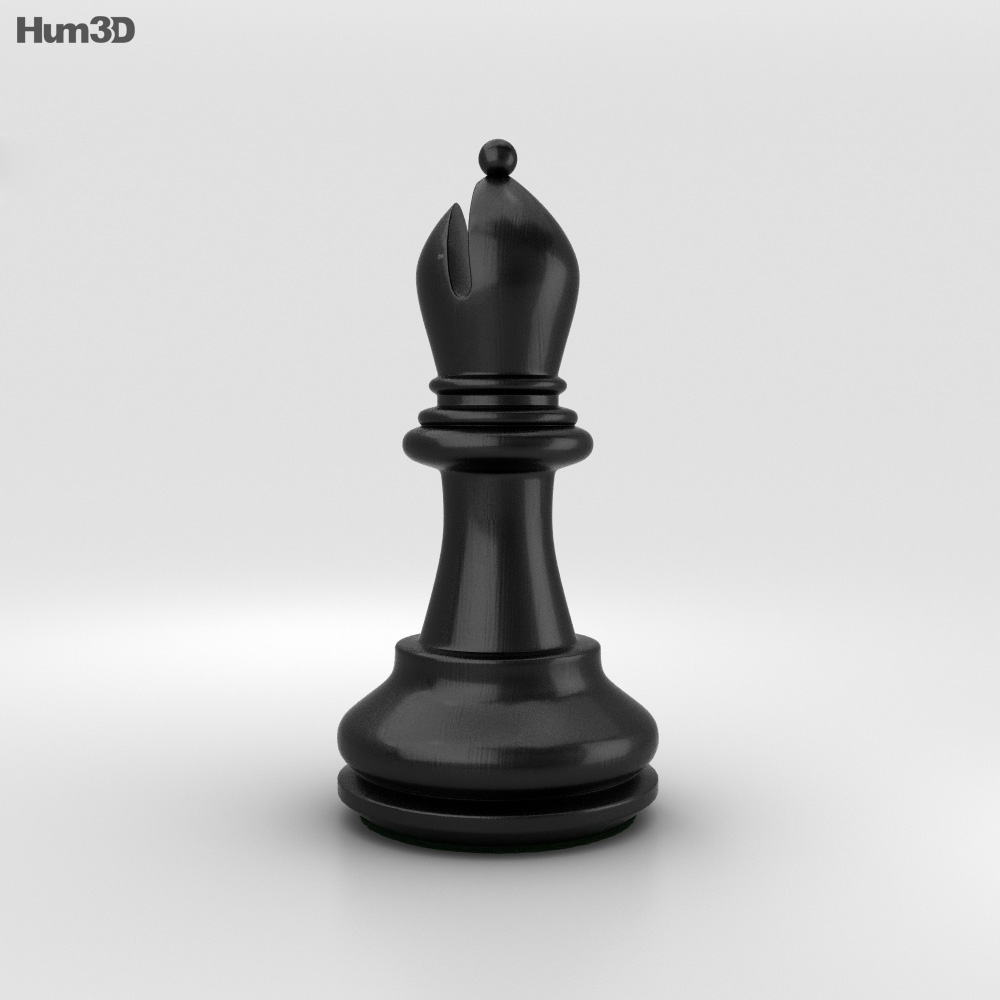 Classic Chess Bishop Black 3d Model Humster3d