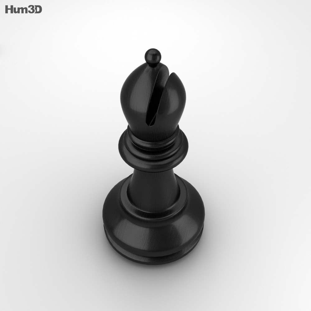 Classic Chess Bishop Black 3d model