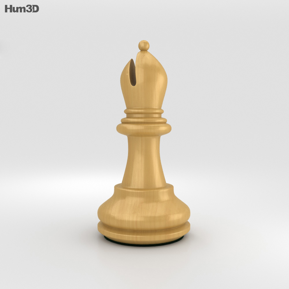 Classic Chess Bishop White 3d Model Humster3d
