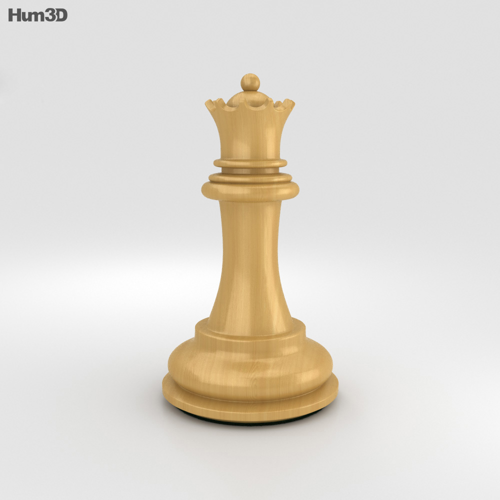 Classic Chess Queen White 3d model