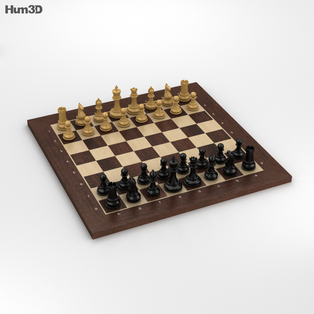 Classic Chess Set 3d model