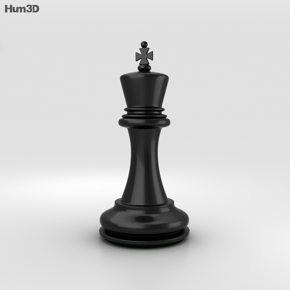 Classic Chess King Black 3d model