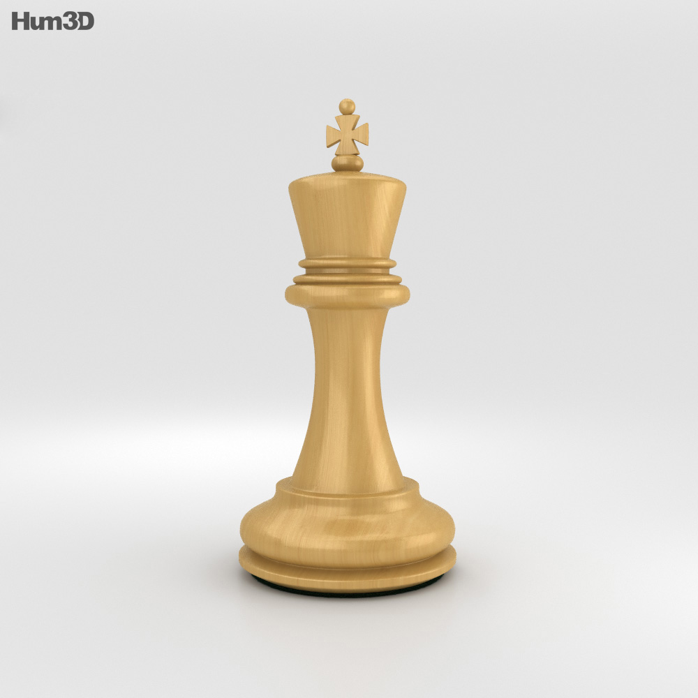 Classic Chess King White 3d Model Humster3d