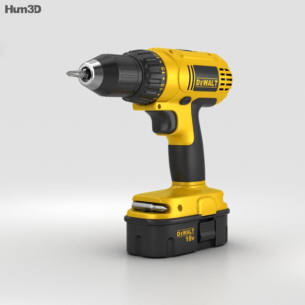 Dewalt Compact Drill 3d model