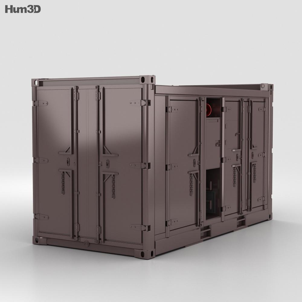 Diesel Compressor Unit 3d model