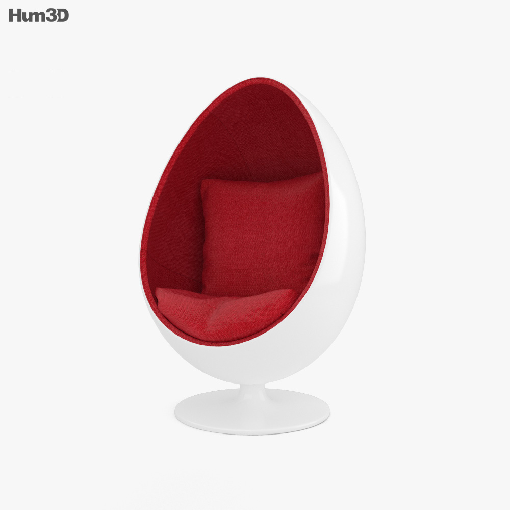Egg Chair 3d Model Furniture On Hum3d