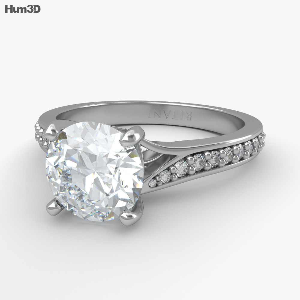 Engagement Diamond Ring 3d model