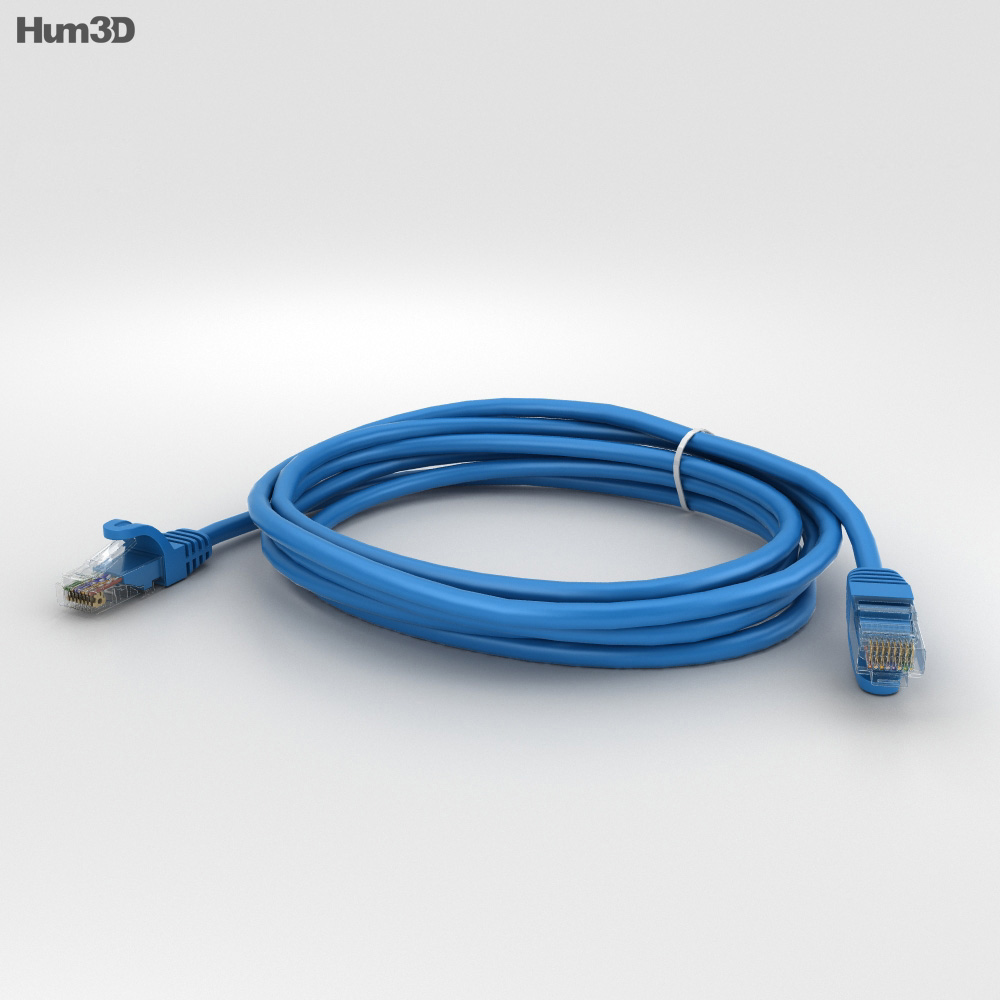 Ethernet Cable 3d model