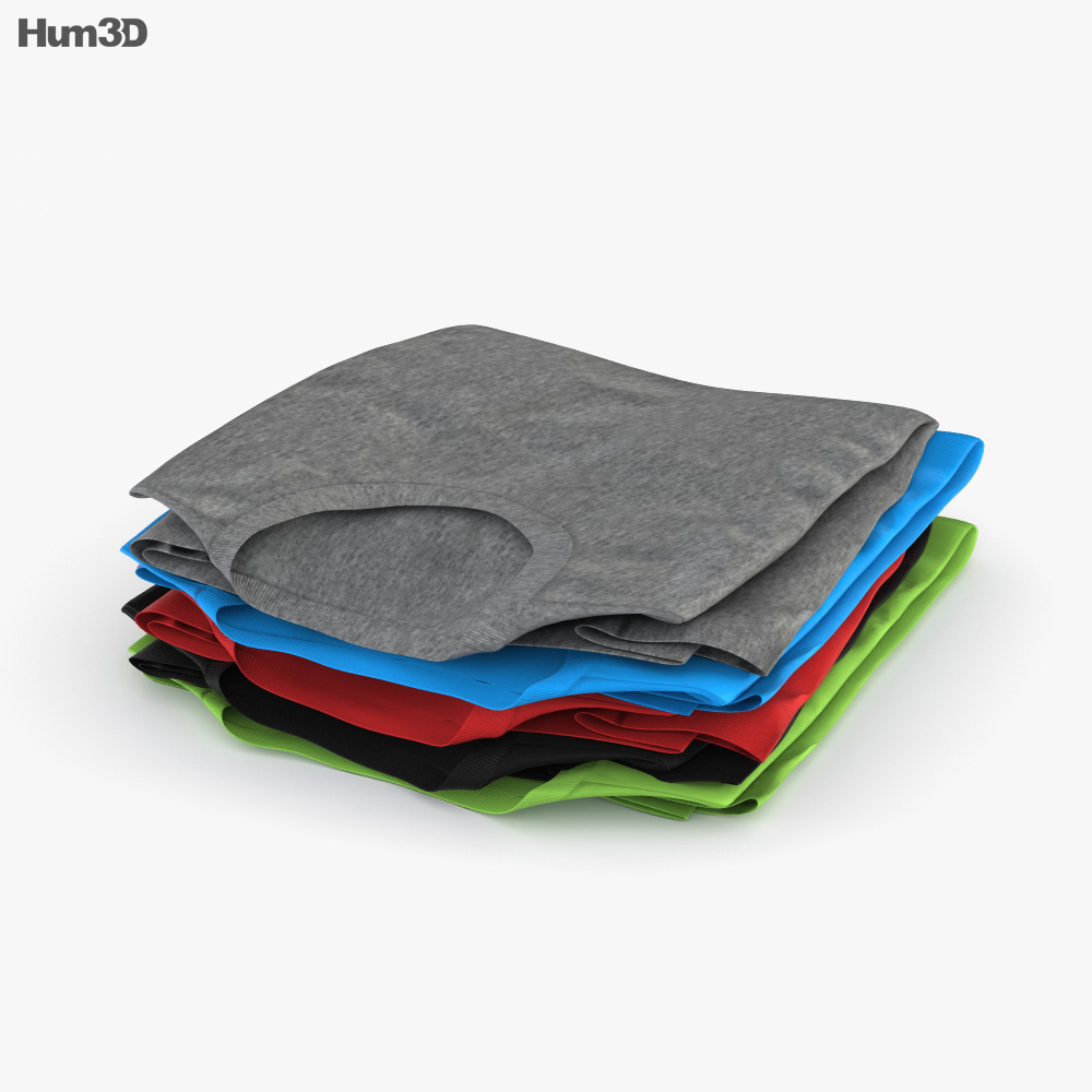 Folded Clothes 3d model