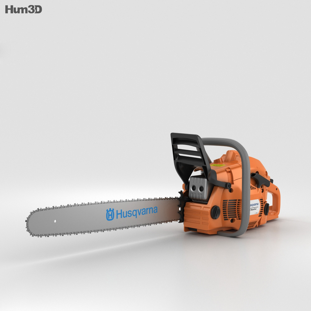 Husqvarna 450 Chainsaw 3d model
