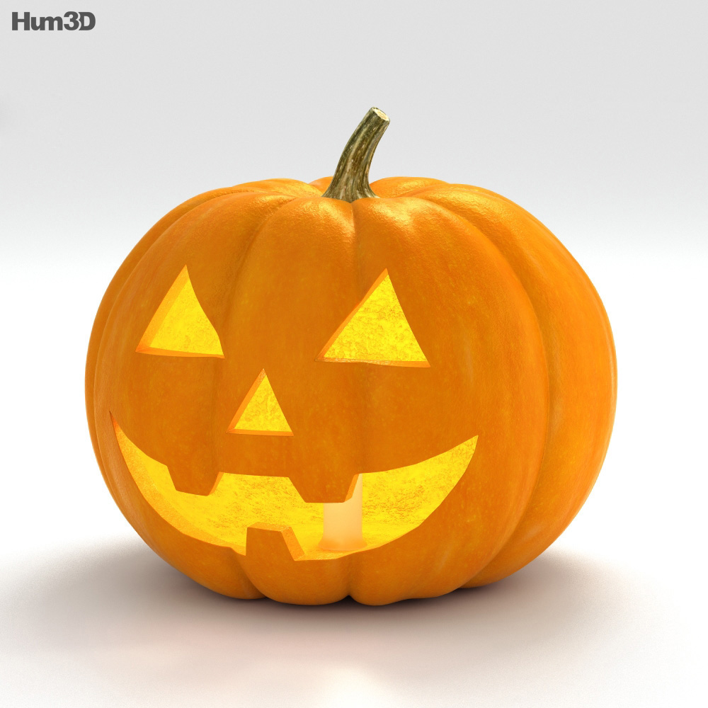 3D model of Jack-o'-Lantern Halloween