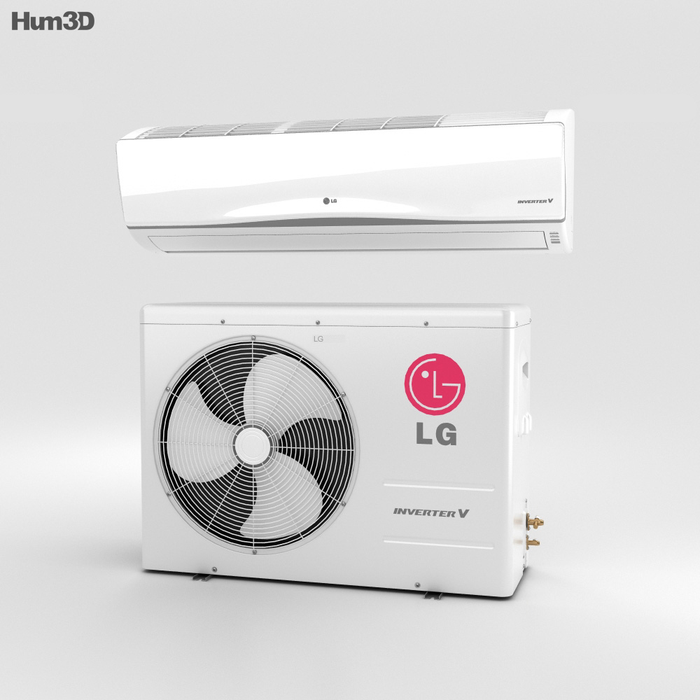 lg air conditioner 3d model - hum3d