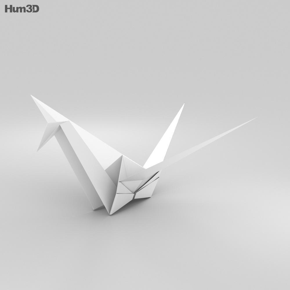Origami Crane 3d model
