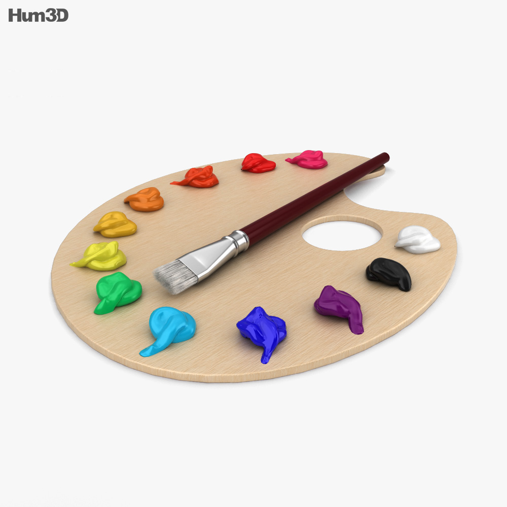3D model of Painting Palette