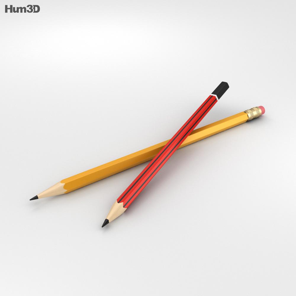 Pencil 3d model