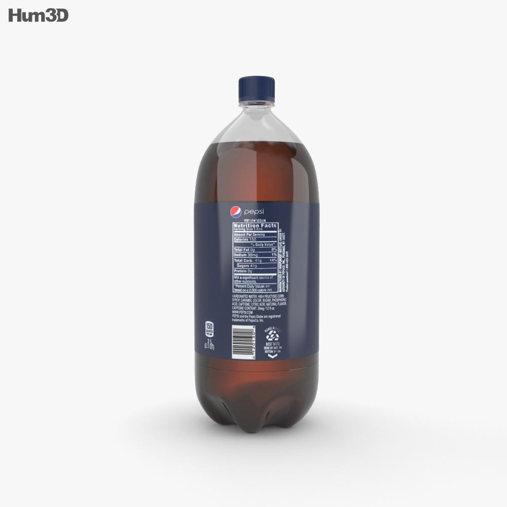 Pepsi Bottle 2L 3d model