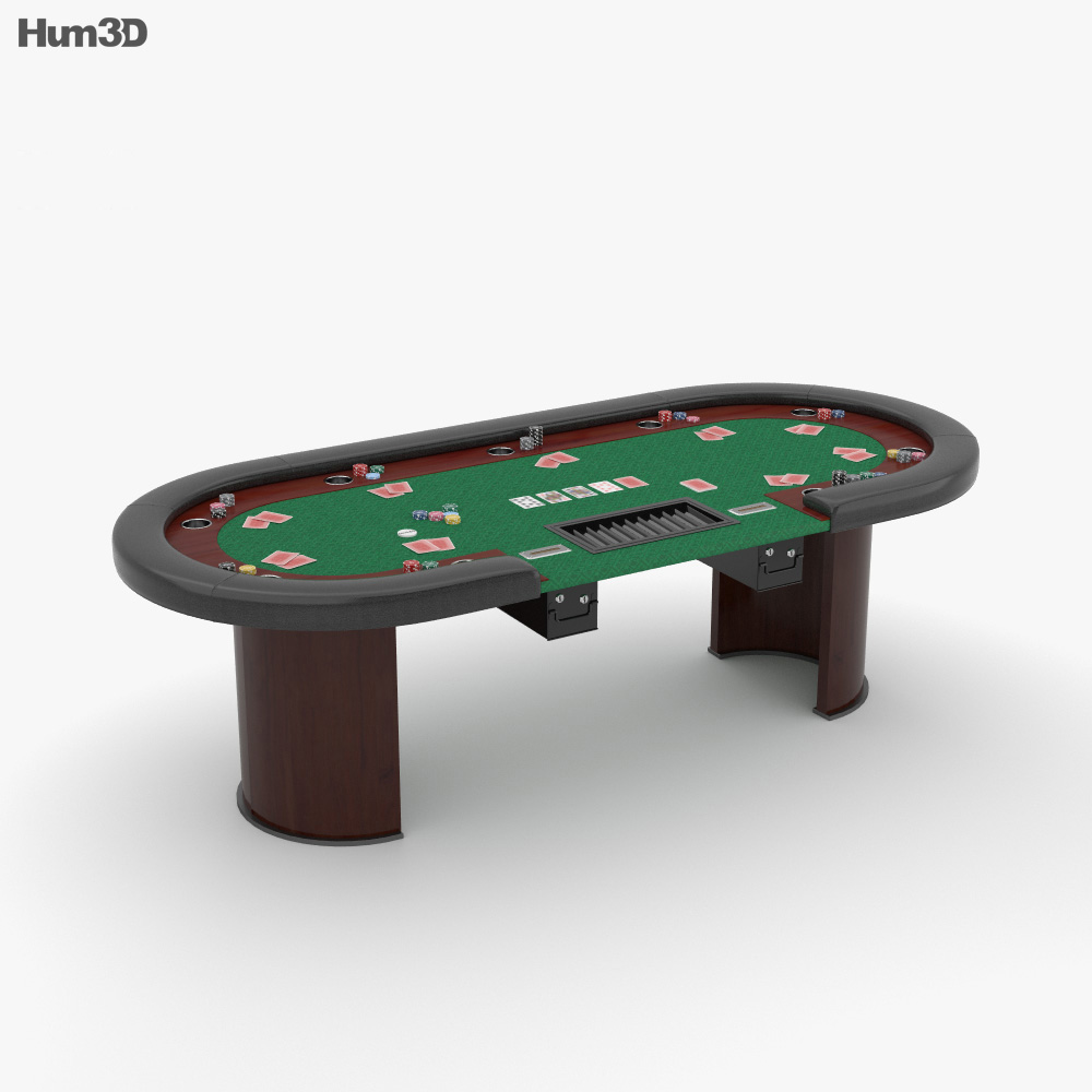 Poker Table 3d model