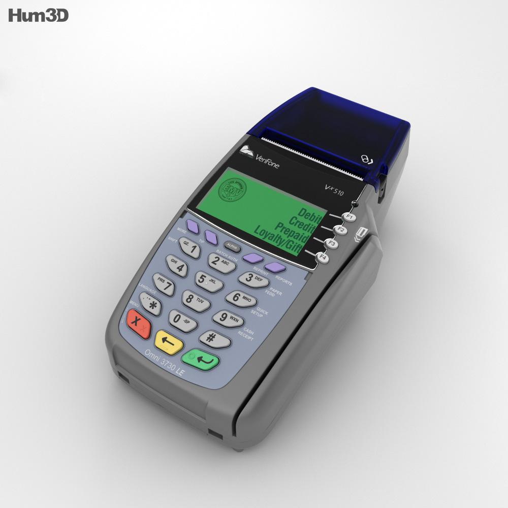 Credit Card Terminal 3d Model Hum3d
