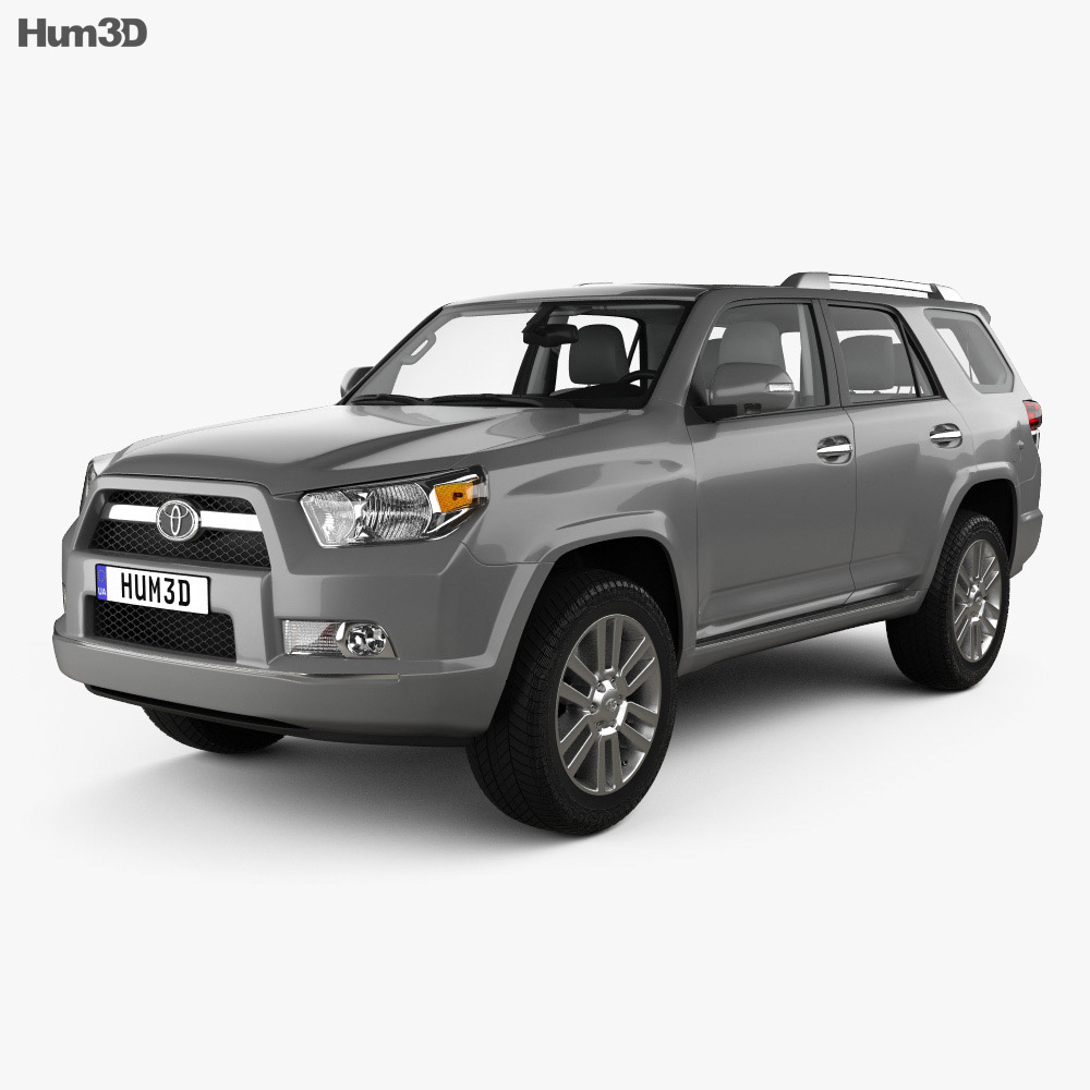 Toyota 4Runner with HQ interior 2011 3d model