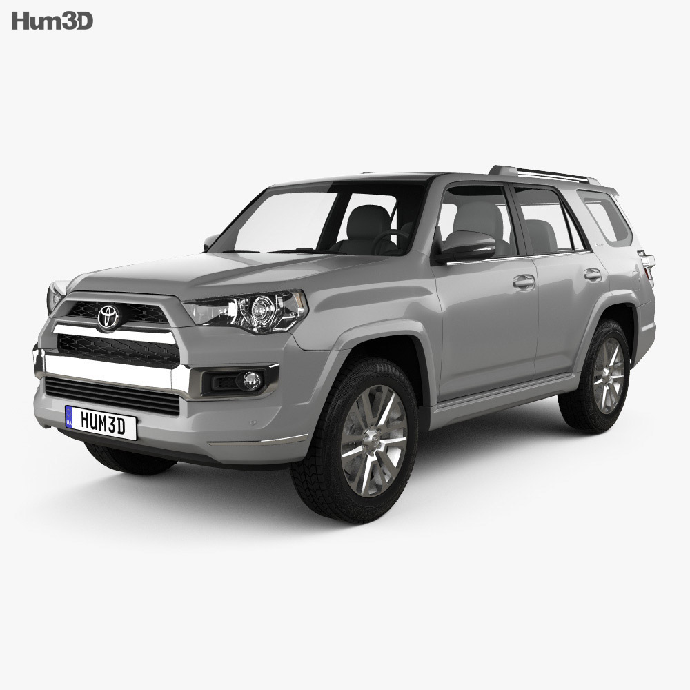 toyota 4runner limited 2016 3d model hum3d