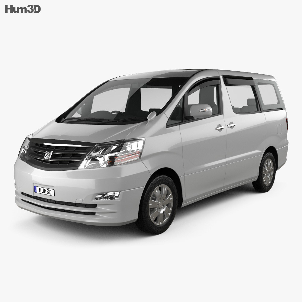 Toyota Alphard 2002 3d model