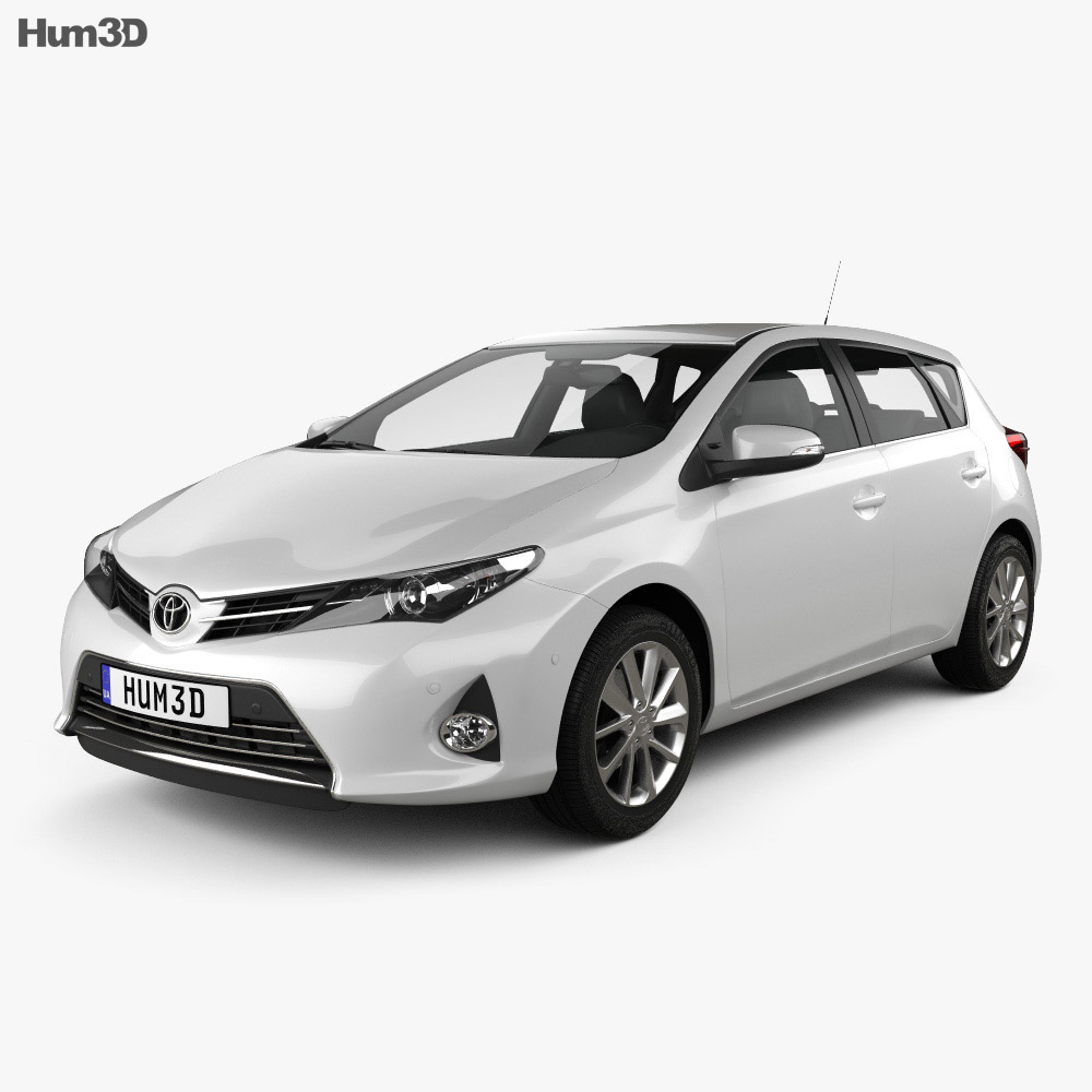 Toyota Auris hatchback 2013 3d model