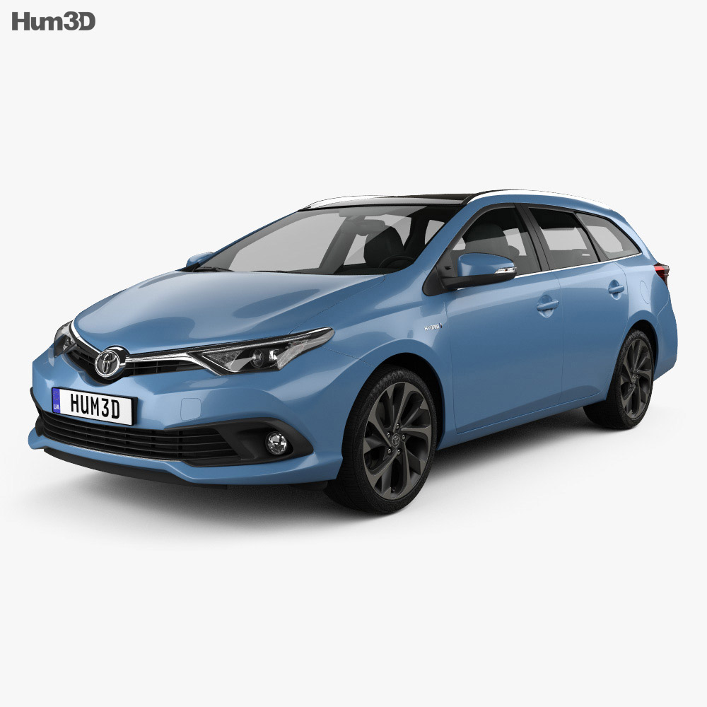 Toyota Auris Touring Sports Hybrid 2015 3d Model Humster3d