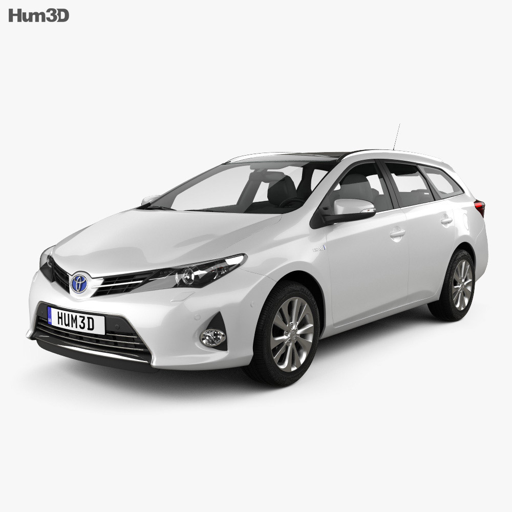 Toyota Auris Touring Hybrid 2013 3d model