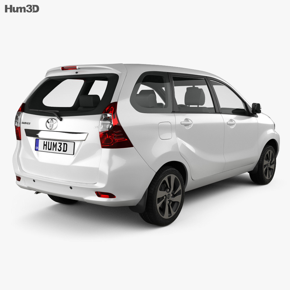 Toyota Avanza SE 2015 3d model