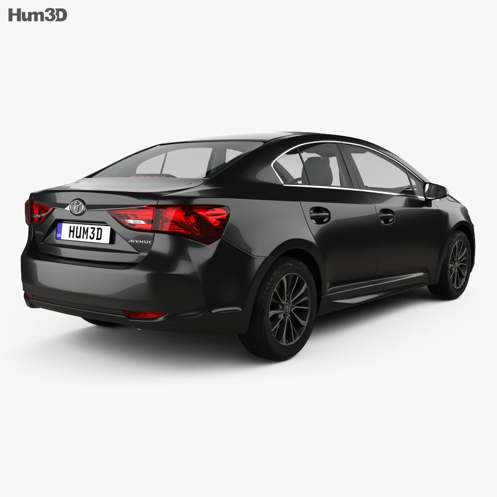 toyota avensis t270 sedan with hq interior 2016 3d model hum3d. Black Bedroom Furniture Sets. Home Design Ideas