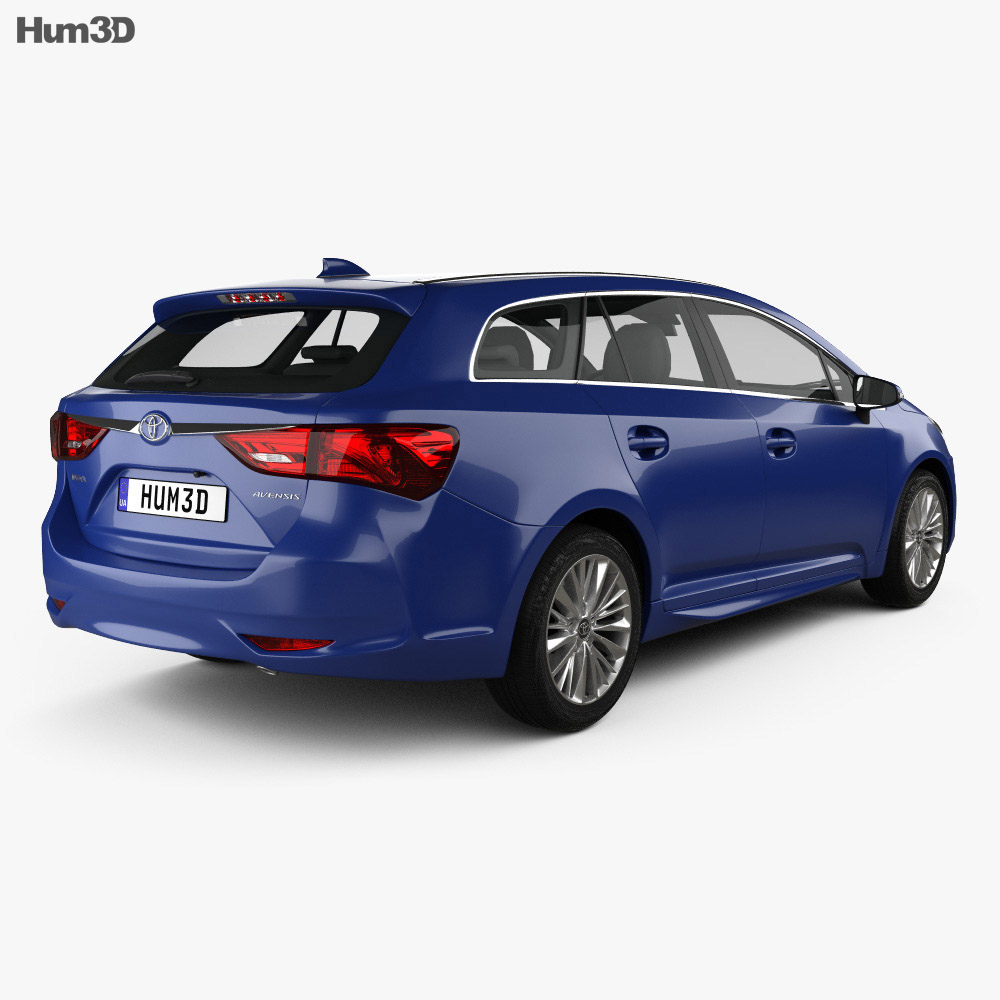 Toyota Avensis (T270) wagon 2016 3d model