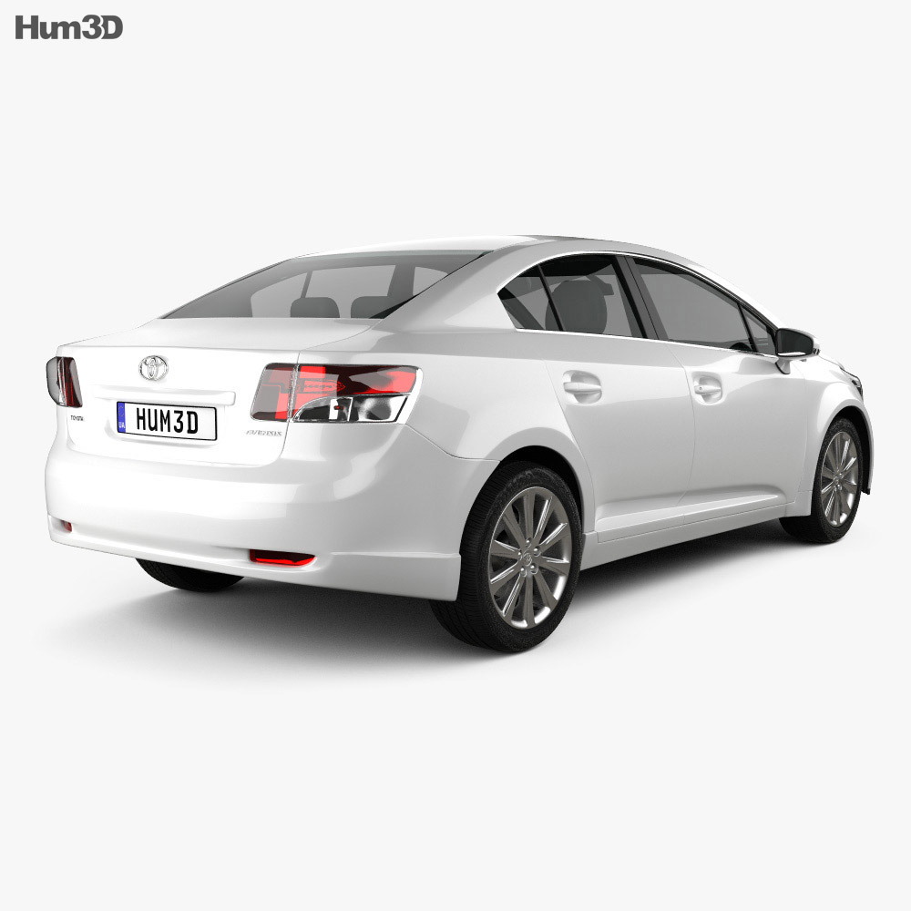 Toyota Avensis sedan 2009 3d model
