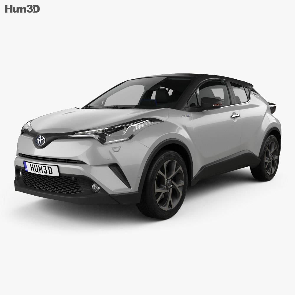 Toyota C-HR with HQ interior 2017 3d model