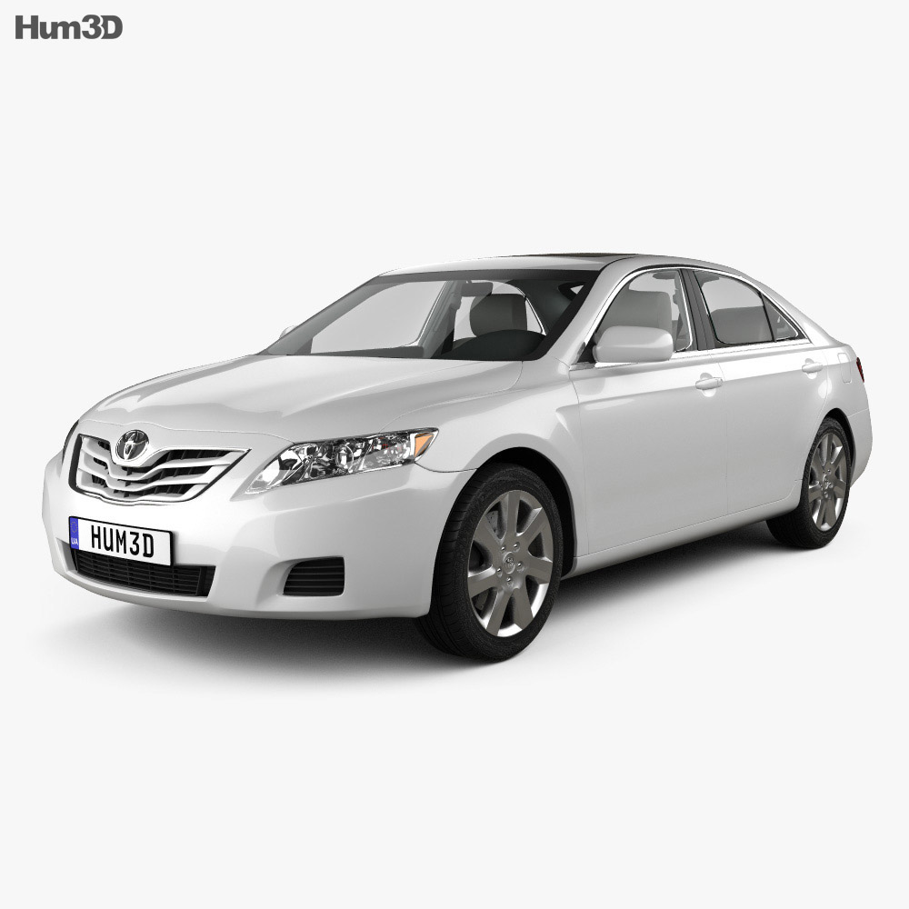 Toyota Camry 2010 with HQ Interior 3d model