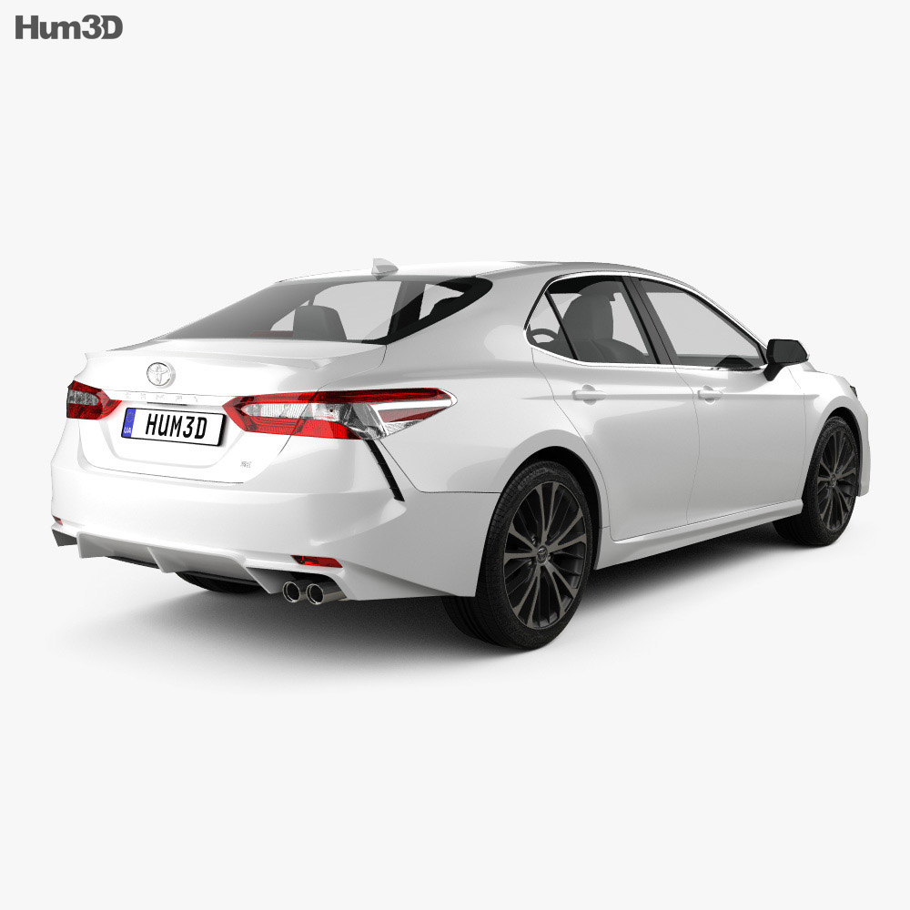 Toyota Camry SE 2018 3d model back view