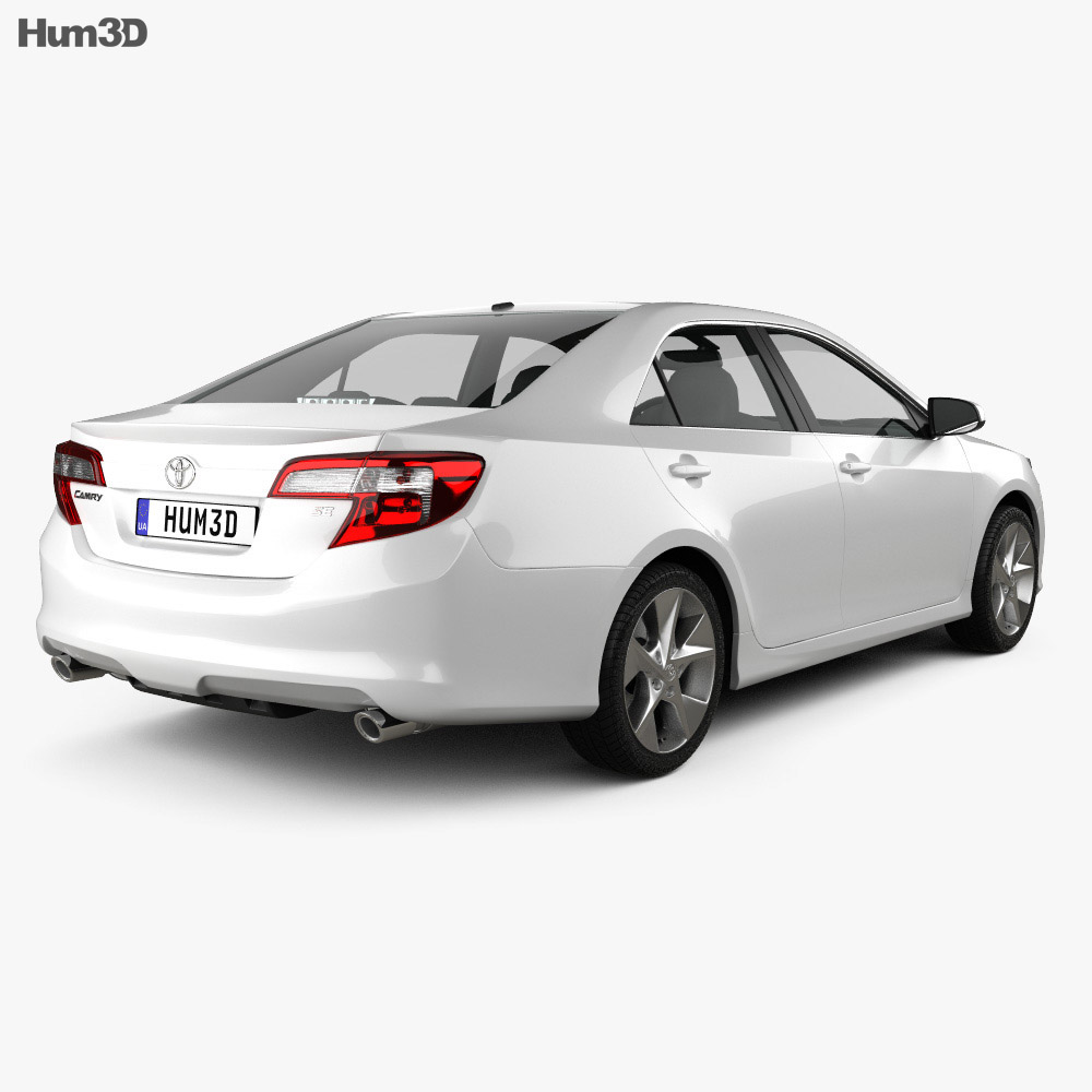 Toyota Camry US SE 2012 3d model back view