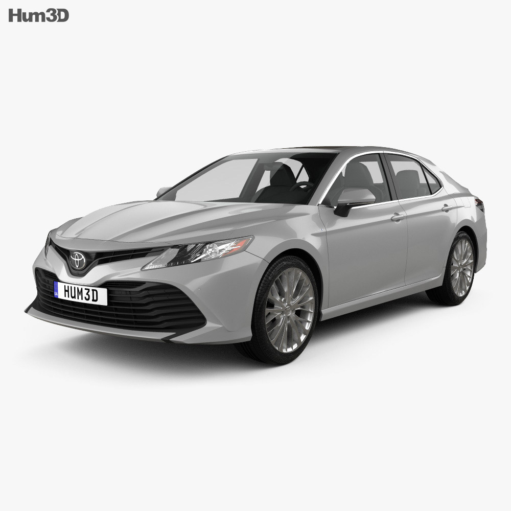 toyota camry xle hybrid 2017 3d model vehicles on hum3d. Black Bedroom Furniture Sets. Home Design Ideas