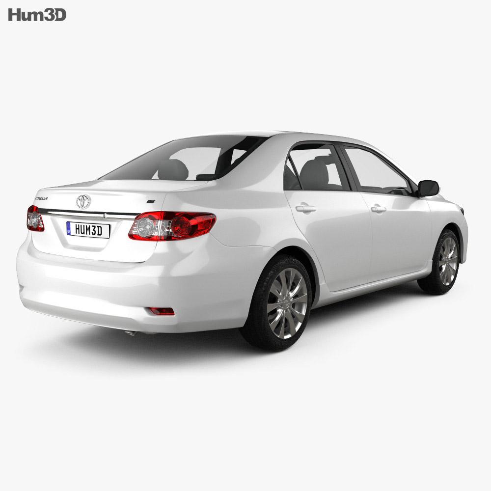 Toyota Corolla LE 2012 3d model
