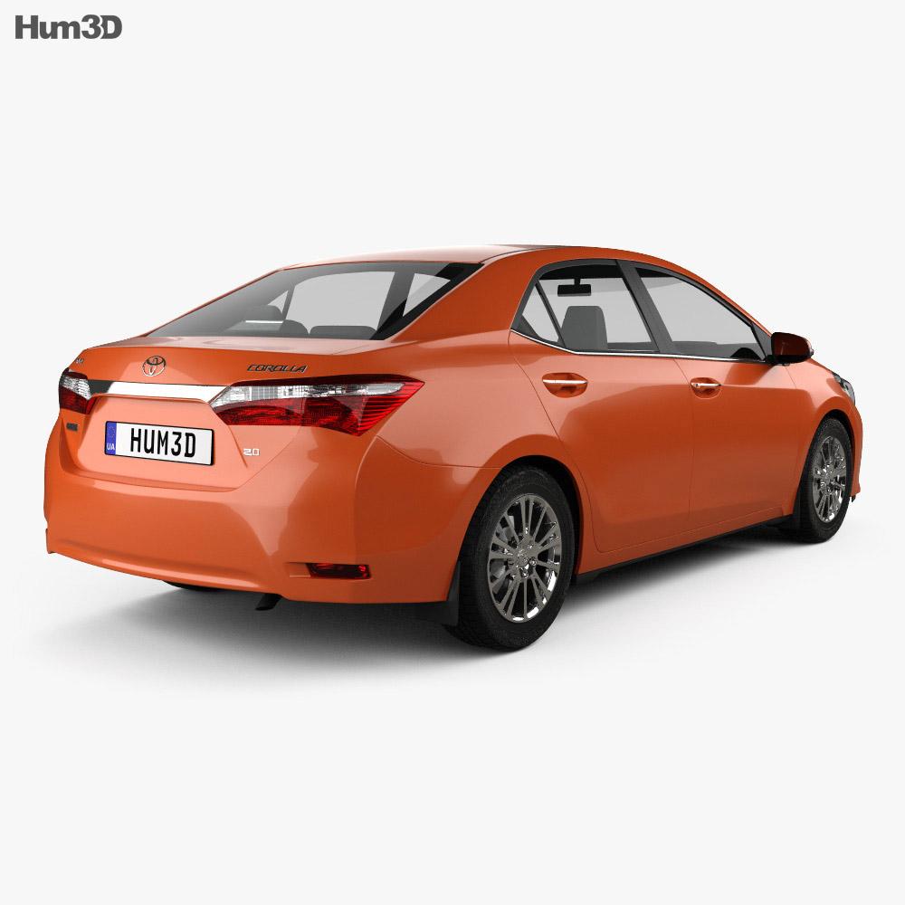 Toyota Corolla Limited 2014 3d model