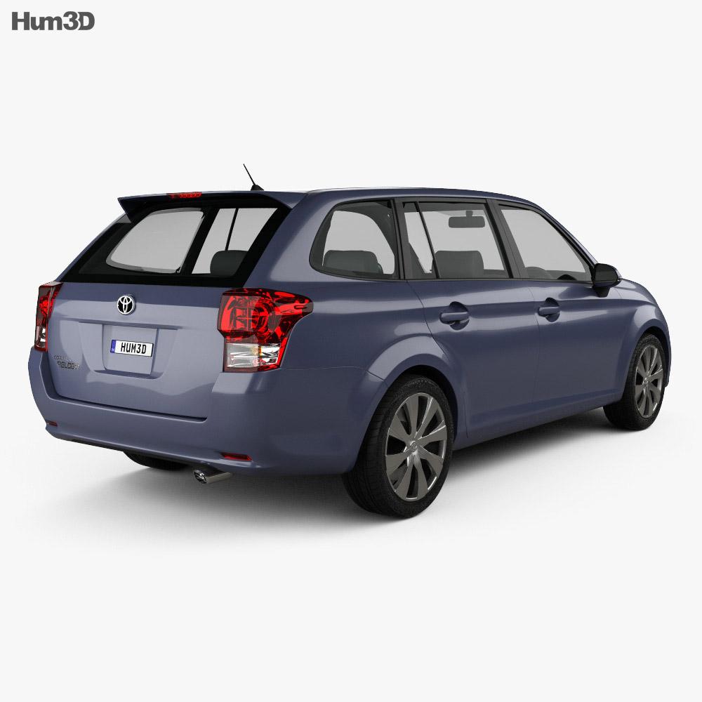 Toyota Corolla Fielder 2012 3d model