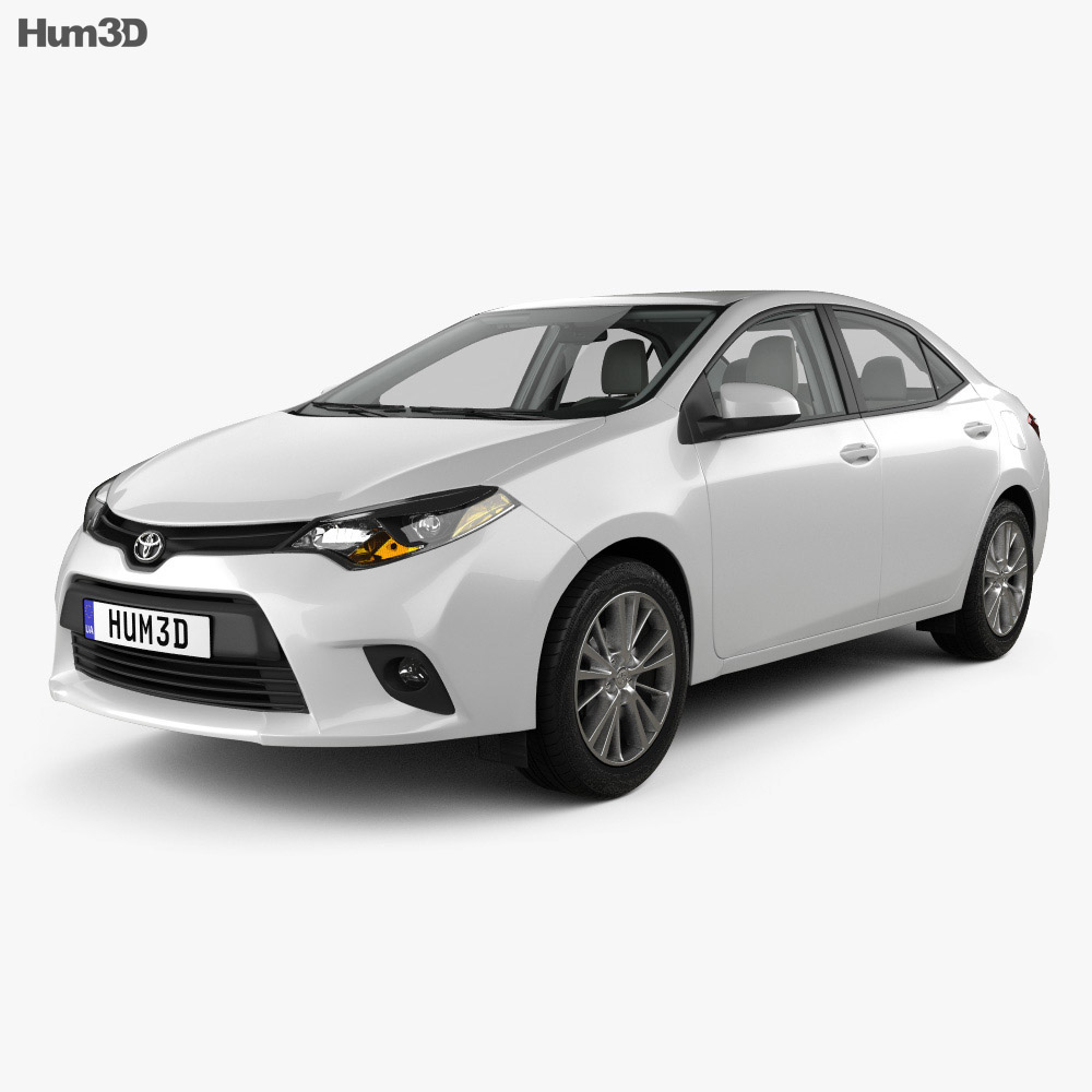 Toyota Corolla LE Eco (US) with HQ interior 2013 3d model