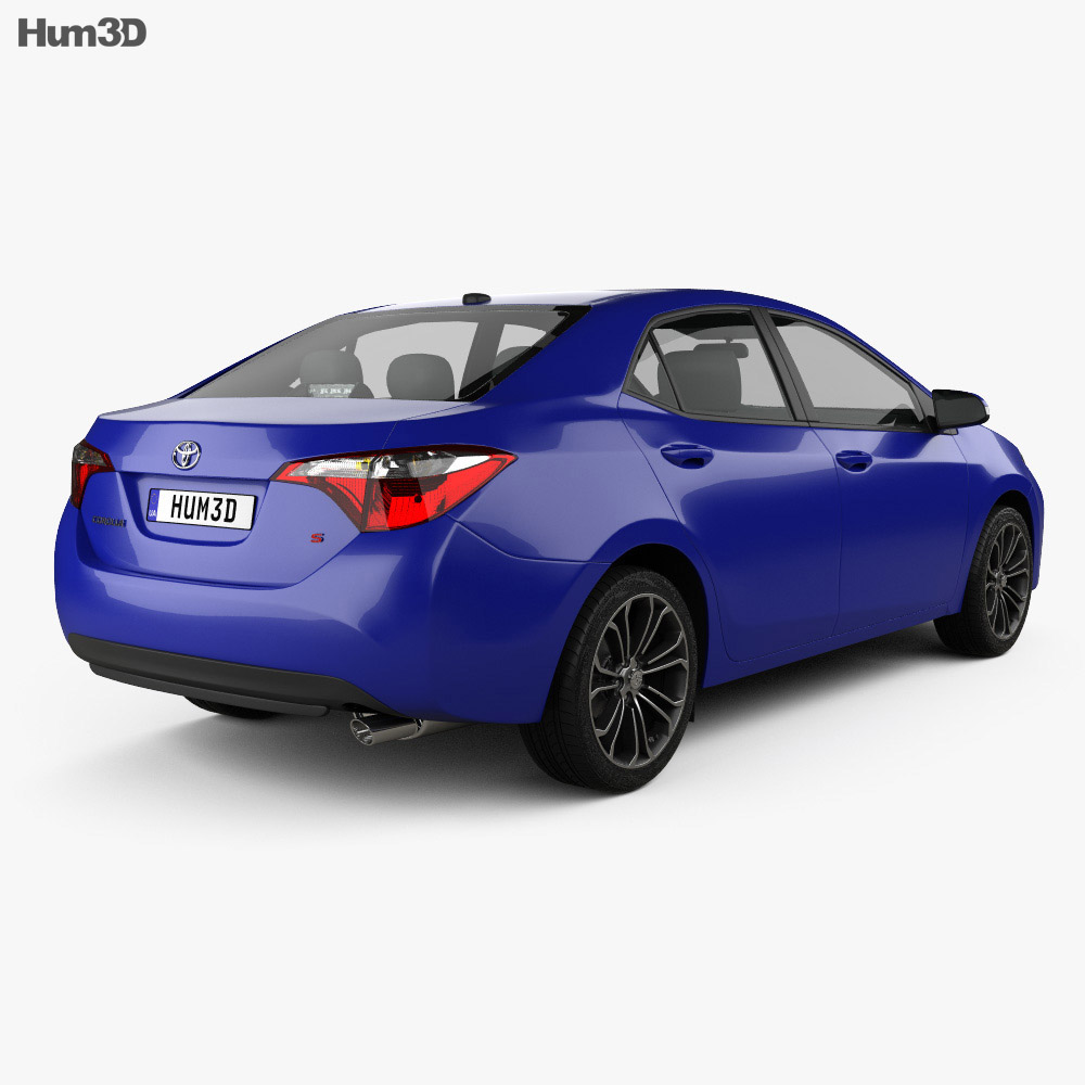 Toyota Corolla S US 2013 3d model