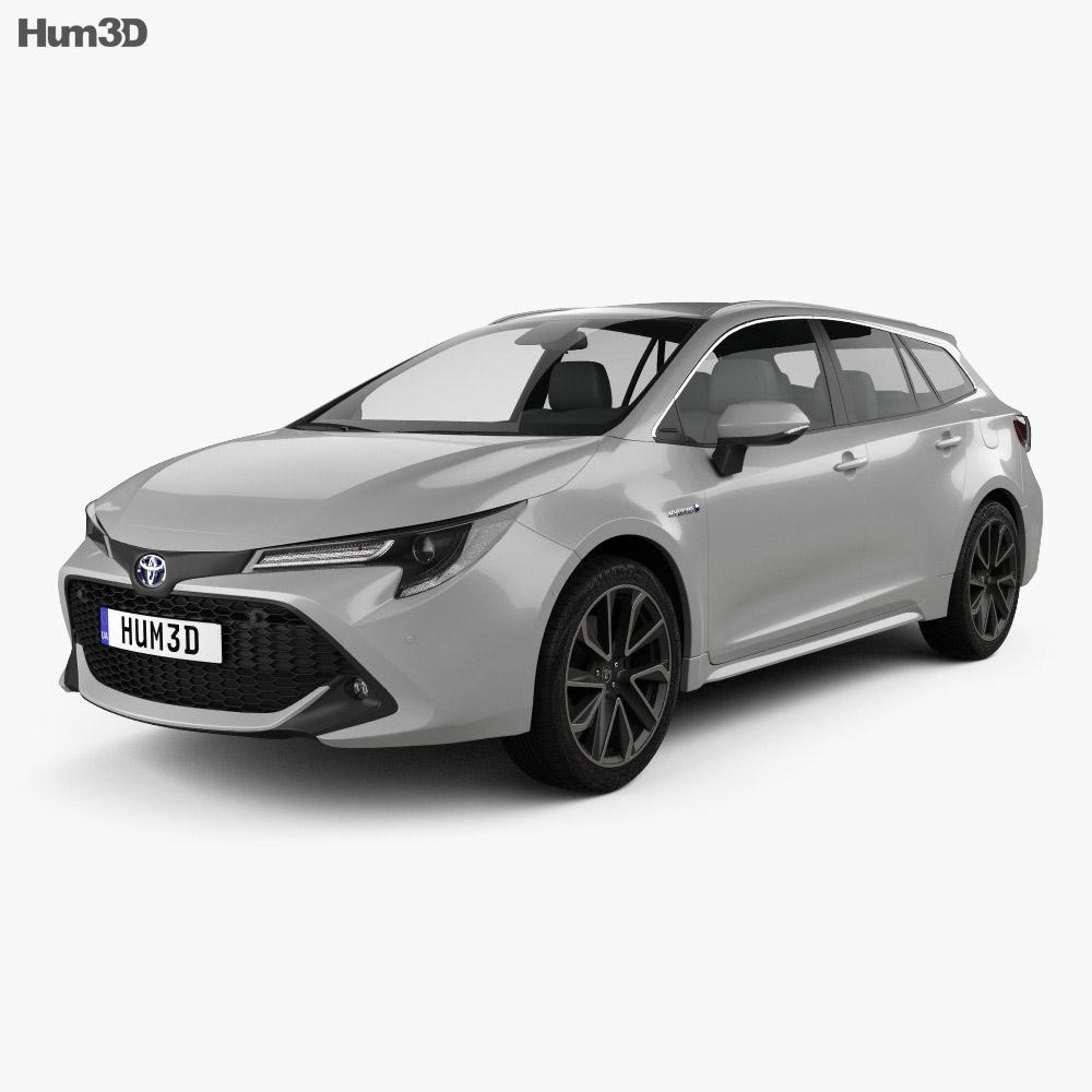 Toyota Corolla Touring Sports Hybrid 2019 3D Model